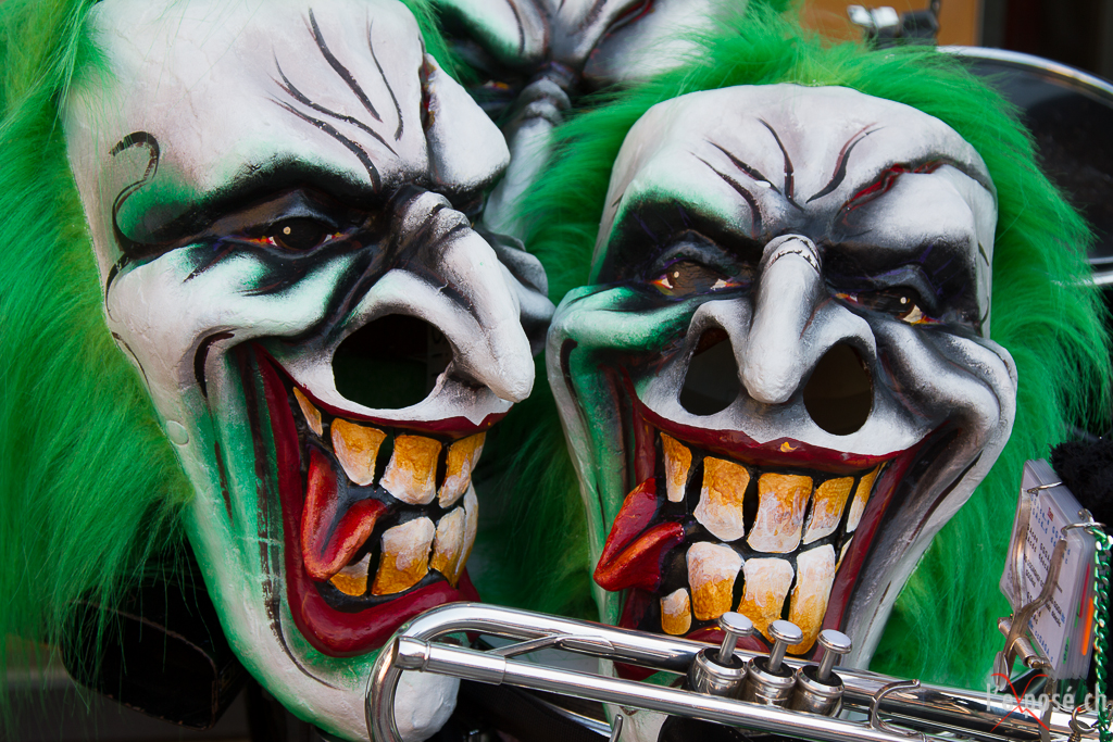 Carnival Masks and Trumpet