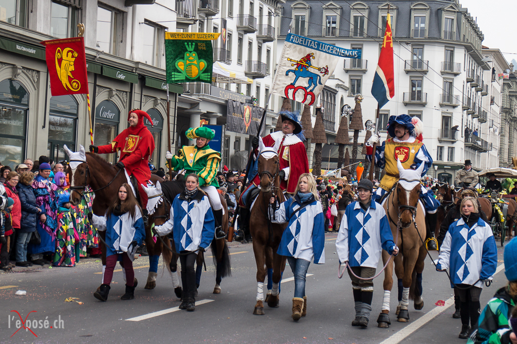 Guilds of the City of Lucerne during Fasnacht 2013