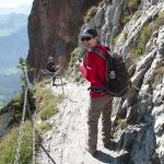 Descending the Grand Mythen Trail
