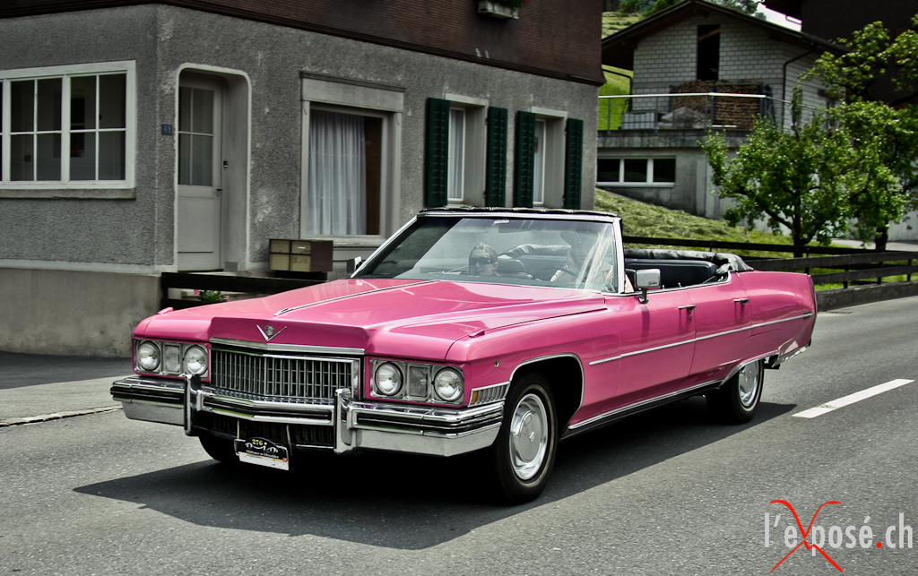Pink Cadillac in Obwalden