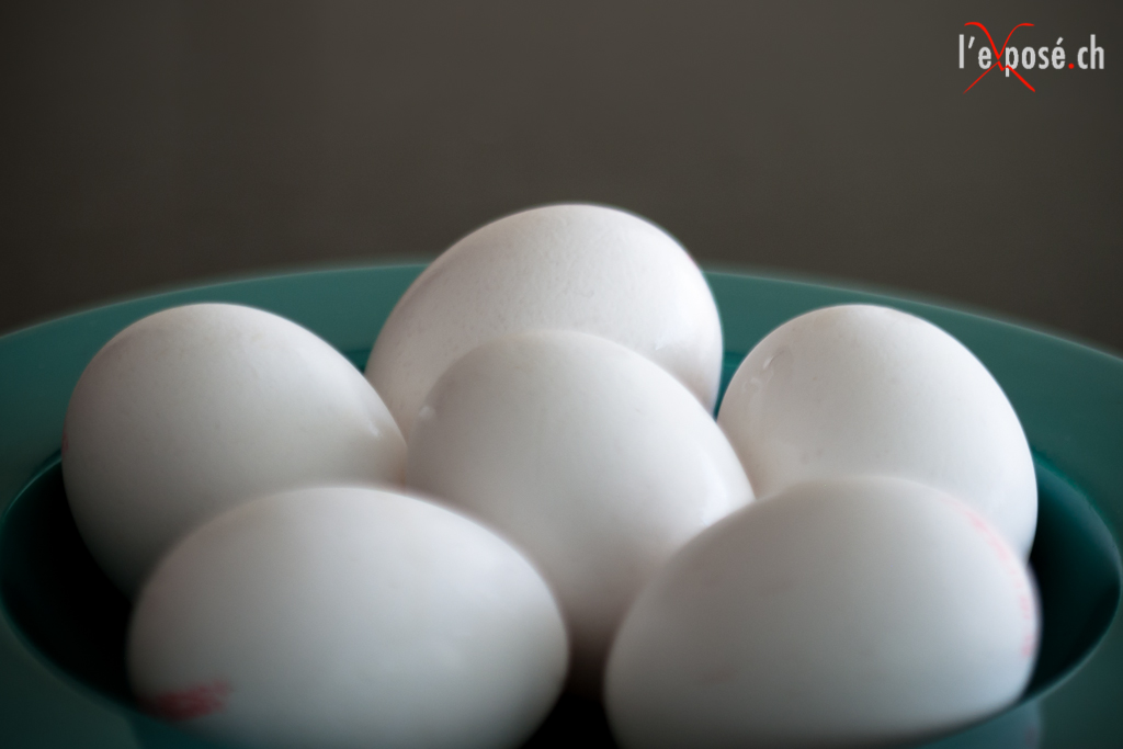 White Eggs in a Bowl