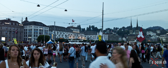 Schweizerhofquai in Luzern during Luzerner Fest 2012.