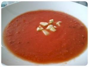 Spicy Heirloom Tomato Gazpacho