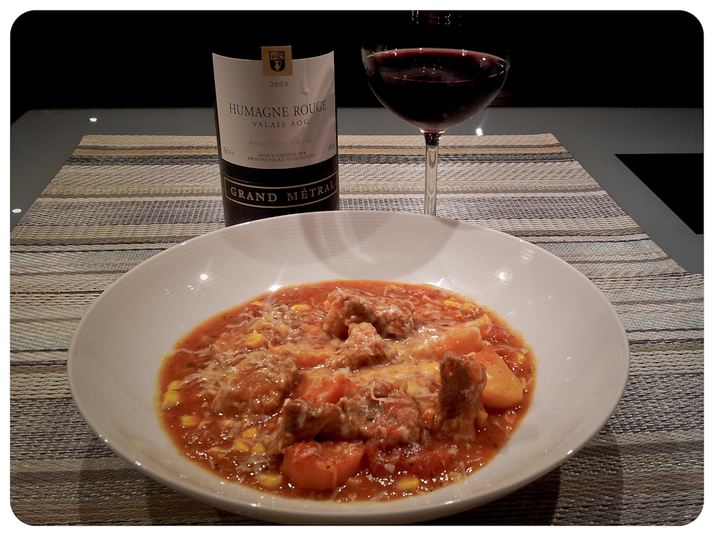 Slow Cooked Italian Pork Stew with Humagne Rouge