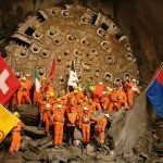Complete Breakthrough of the East Tube of the Gotthard Base Tunnel October 15, 2010. Image Source: Herrenknecht.com