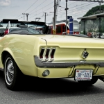 1967 Yellow Mustang at Oldtimer in Obwalden