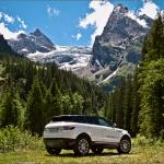 Rosenlaui Glacier with Range Rover Evoque