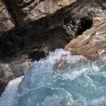 Water Plummets into the Rosenlaui Gorge