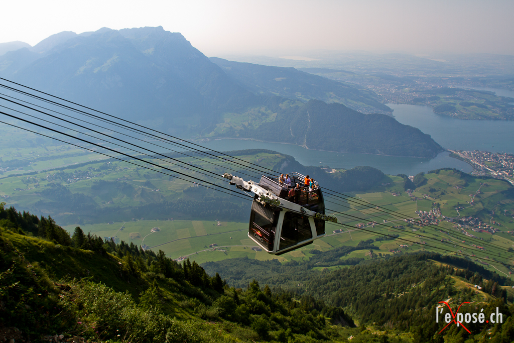 Stanserhorn Cabrio and Lake Lucerne