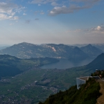 Lake Lucerne from the Stanserhorn Summit