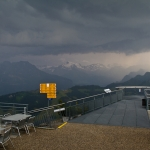 Storm rolling towards the Stanserhorn Summit