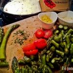 Creamy Citron Pasta Sauce with Aspargus