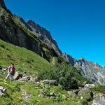 Landscape from the Jochpass Trail