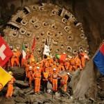 Complete Breakthrough of the East Tube of the Gotthard Base Tunnel October 15, 2010. Image Source: Herrenknecht.com