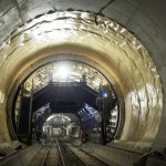 Tunnel Lining of the Gotthard Base Tunnel in Amsteg. Image Source: AlpTransit